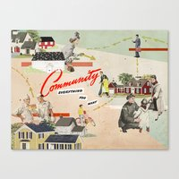 community Canvas Prints featuring Community by Heather Landis