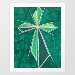 Green Cross Art Print