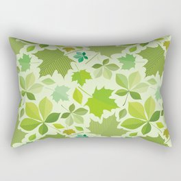 green leaves pattern, green foliage without gradient for printing Rectangular Pillow