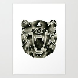 Fractured Geometric Bear Art Print