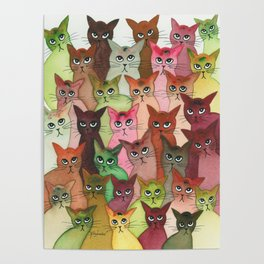 Springfield Many Whimsical Cats Poster