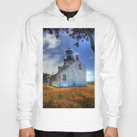 lighthouse Hoodies featuring Lighthouse by Christine Workman