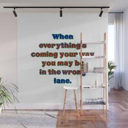 "Funny ""Wrong Lane"" Joke Wall Mural"