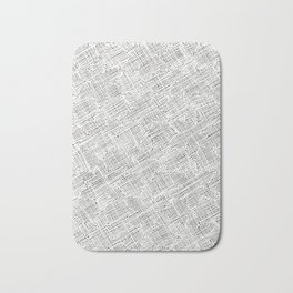 Ink Weaves: White Alabaster Bath Mat