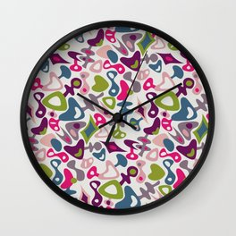 Playful retro Wall Clock