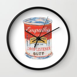 Empathy Soup Can Wall Clock