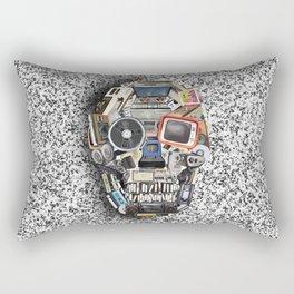 retro tech skull 5 Rectangular Pillow
