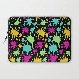 Colorful Paint Splatter Pattern Laptop Sleeve