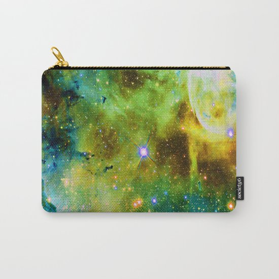 blue green space nebula Carry-All Pouch