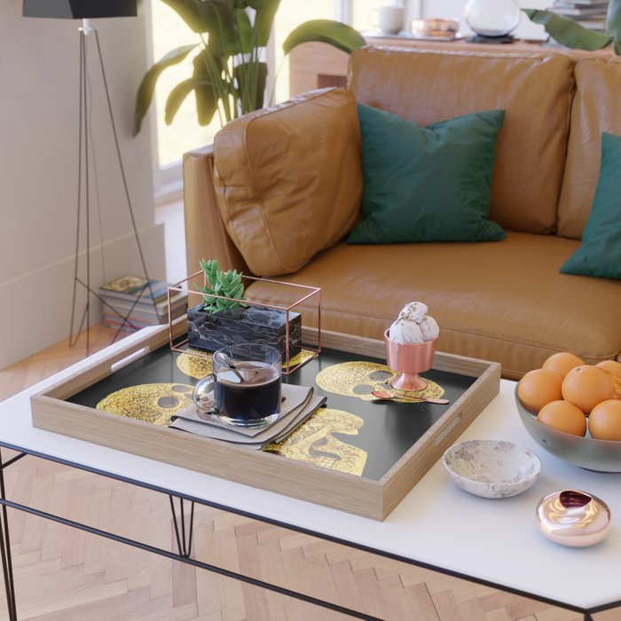 For the Love of Gold Serving Tray