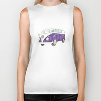 van Biker Tanks featuring Camper van  by Hayley Ferguson