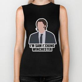 Sam F*cking Winchester Biker Tank