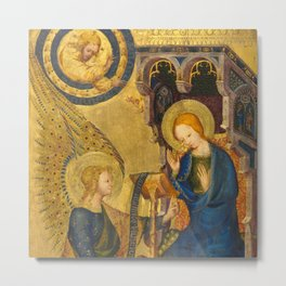 The Annunciation France 14th century Metal Print