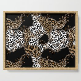 Leopard Skin and Chains Serving Tray