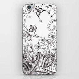 Garden Doodle 2 iPhone Skin