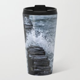 Breakwater In The Ocean Travel Mug