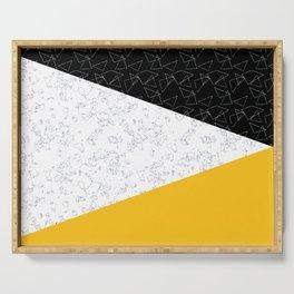 Black yellow white flap Serving Tray