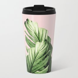 Blush Banana Leaves Dream #1 #tropical #decor #art #society6 Travel Mug
