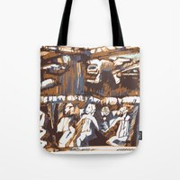 african Tote Bags featuring african by Silvia Gentilini