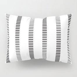 Black Bars (Rows) Pillow Sham