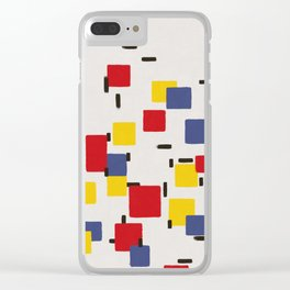 Abstract Mondrian Style Art II Clear iPhone Case