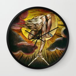 """William Blake """"Ancient of Days,"""" frontispiece for """"Europe a prophecy,"""" 1794 Wall Clock"""