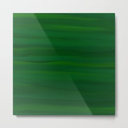 Emerald Green Stripes Abstract Metal Print