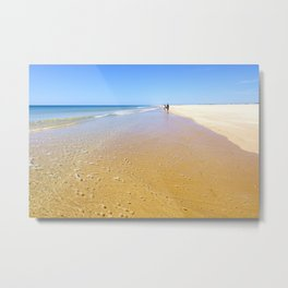 Perfect Summer Beach | Tavira, Portugal Metal Print