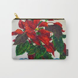 Stilllife with Poinsettias Carry-All Pouch