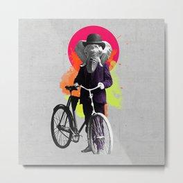 Fancy Bike Elephant Metal Print