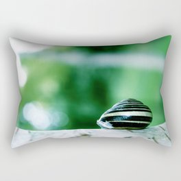 Snail on Silver Birch Rectangular Pillow