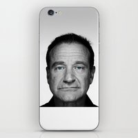 robin williams iPhone & iPod Skins featuring Robin Williams by Ionic Slasher