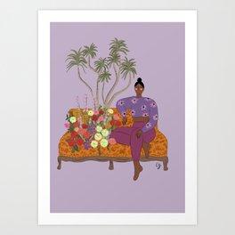 The Sofa Art Print