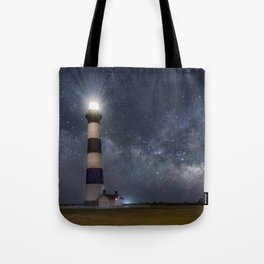 Bodie Island Lighthouse with Milky Way Core Tote Bag