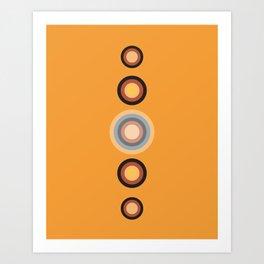 Desert Moon Phases Art Print