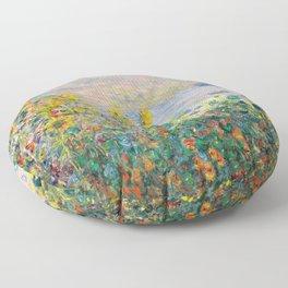 Flower Beds at Vétheuil by Claude Monet 1881 Floor Pillow