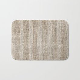 Striped burlap (Hessian series 3 of 3) Bath Mat