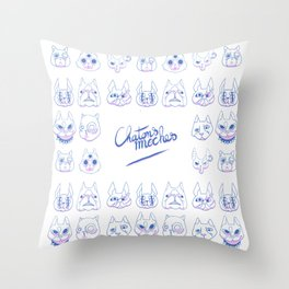 Chatons moches (Ugly Kitties) Throw Pillow