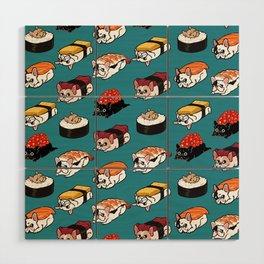 Sushi Frenchie Wood Wall Art