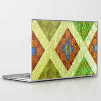 arab Laptop & iPad Skins featuring arab stained glass by tony tudor
