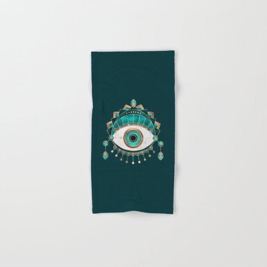 Teal Eye Hand & Bath Towel