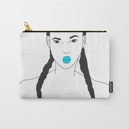 Strong Female Line Art Portrait Carry-All Pouch