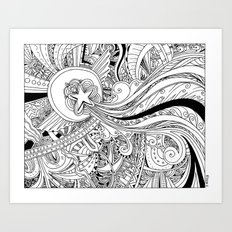 Traveling Star Art Print