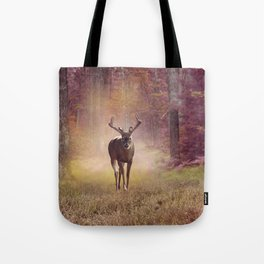 Male Deer in autumn forest Tote Bag