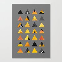 triangles Canvas Prints featuring Triangles by Elisabeth Fredriksson