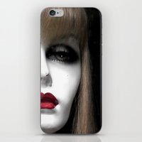 depression iPhone & iPod Skins featuring Depression by Roger Leao