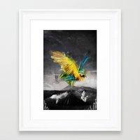 parrot Framed Art Prints featuring Parrot by Elias Klingén