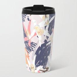 Tropical lemons. Trendy print Travel Mug