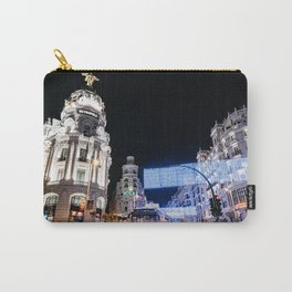 Gran Via Street at Night Carry-All Pouch