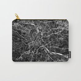 Krakow Black Map Carry-All Pouch